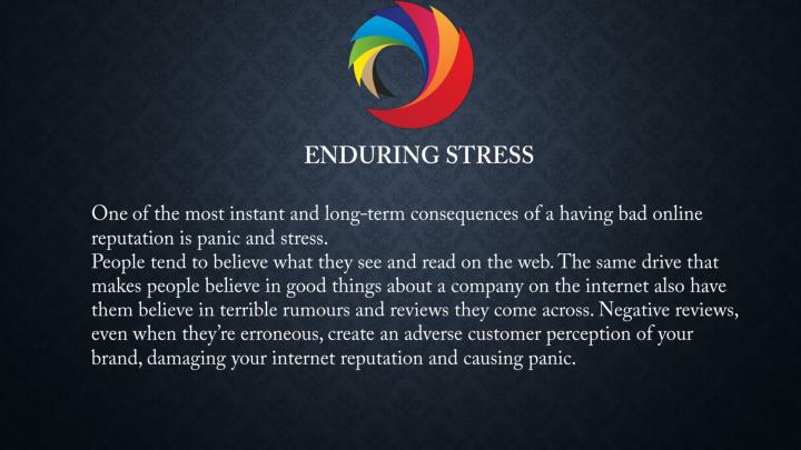 ENDURING STRESS