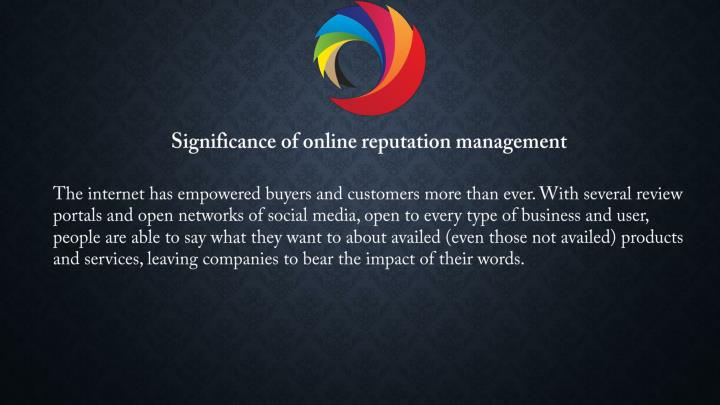 Significance of online reputation management