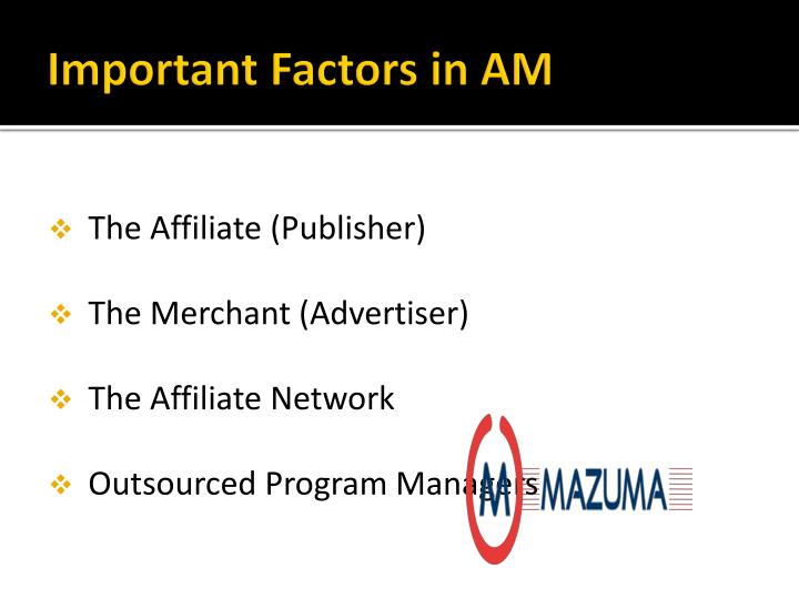 Important Factors in AM
