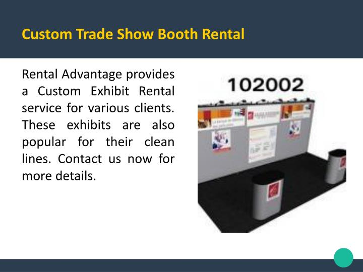 Custom Trade Show Booth Rental