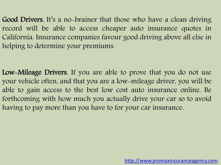 Good Drivers.