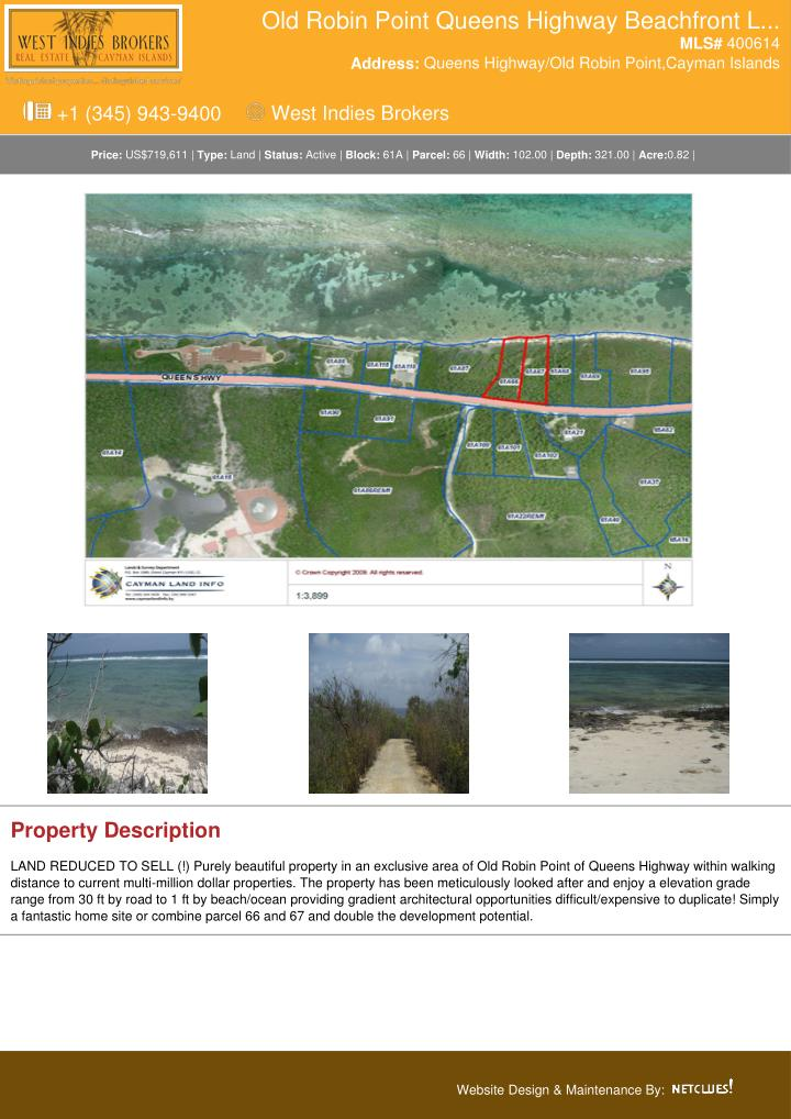 Old Robin Point Queens Highway Beachfront L...