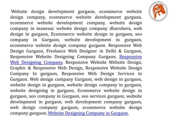 Website design development