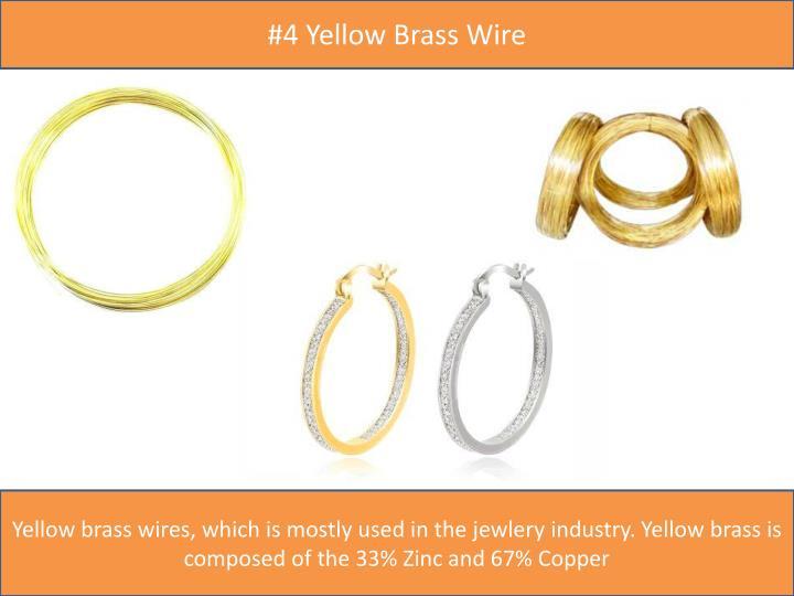 #4 Yellow Brass Wire