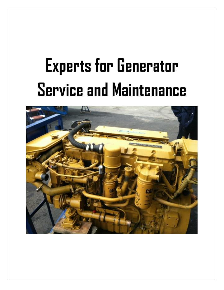 Experts for Generator