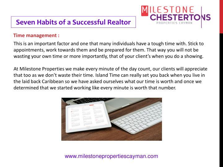 Seven Habits of a Successful Realtor