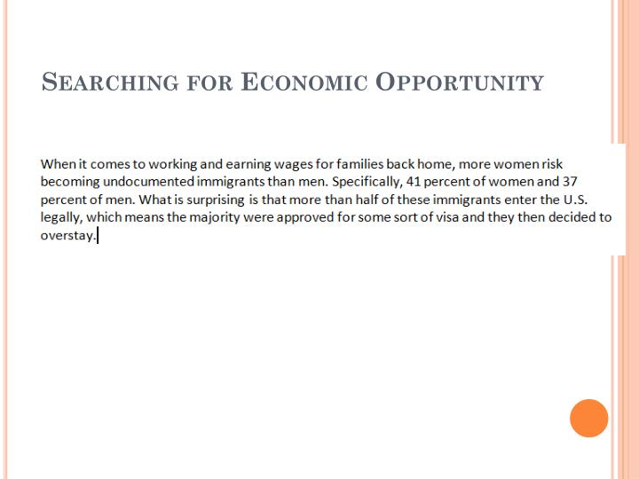Searching for economic opportunity