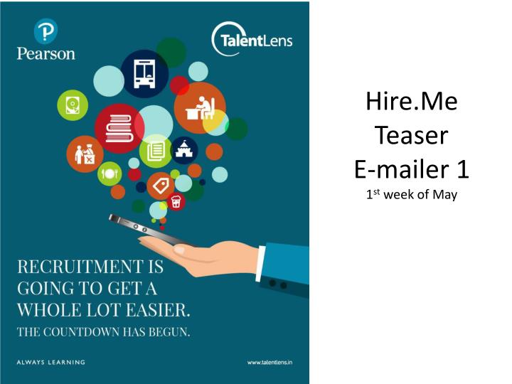 Hire me teaser e mailer 1 1 st week of may
