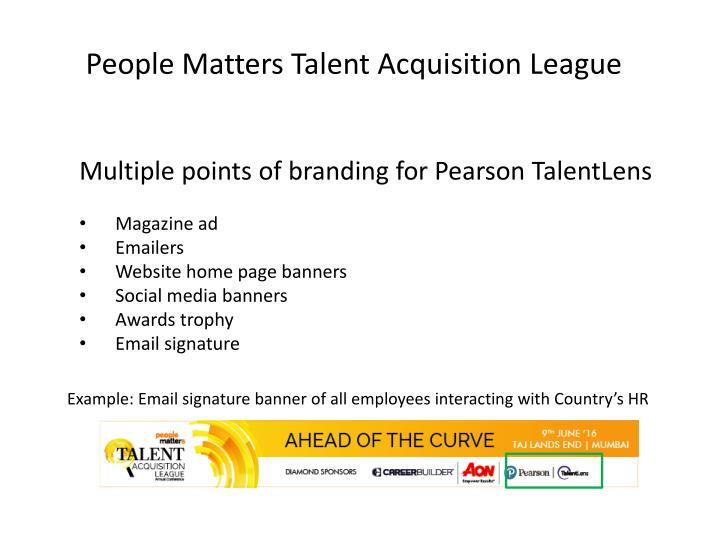 People Matters Talent Acquisition League