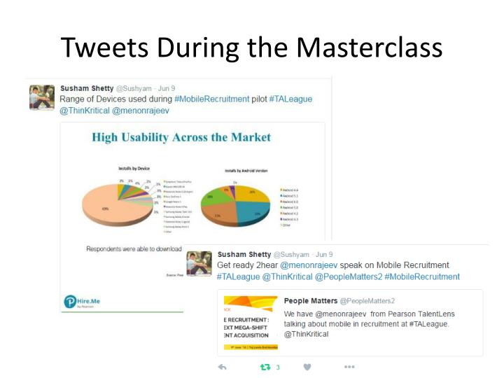 Tweets During the Masterclass