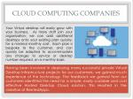 cloud computing companies