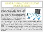 virtual desktop solutions for small business