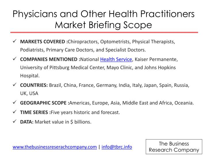 Physicians and Other Health Practitioners Market Briefing