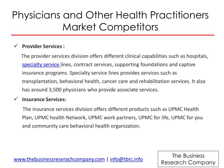 Physicians and Other Health Practitioners Market Competitors