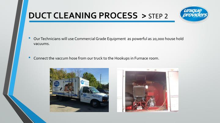 Duct cleaning process step 2