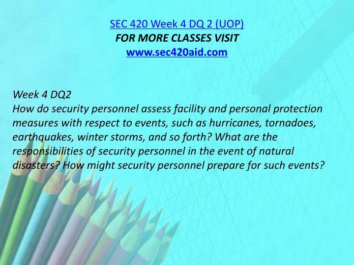 SEC 420 Week 4 DQ 2 (UOP)