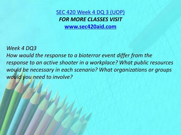 SEC 420 Week 4 DQ 3 (UOP)