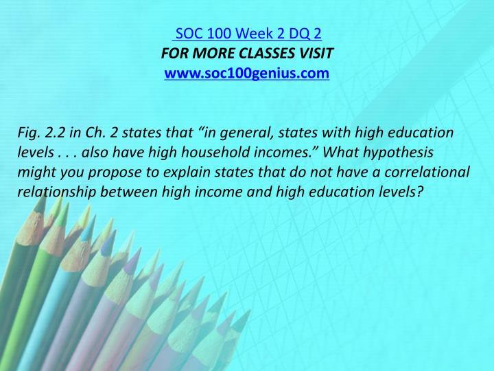 SOC 100 Week 2 DQ 2