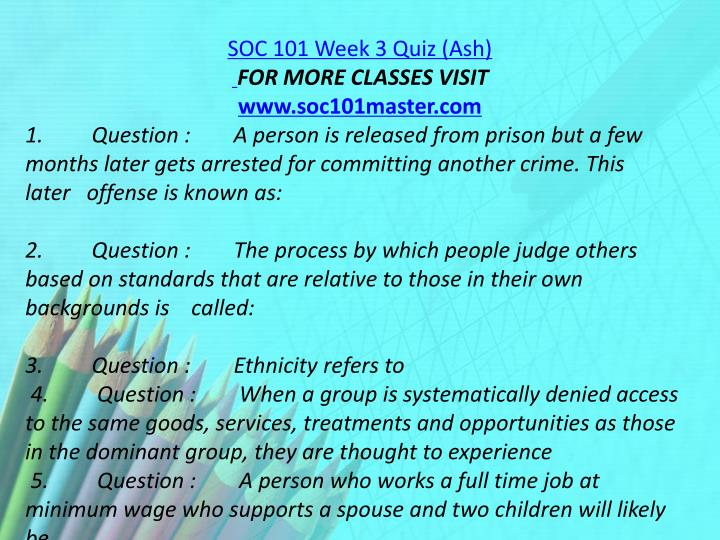 SOC 101 Week 3 Quiz (Ash)
