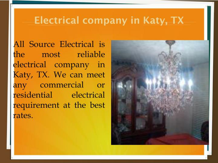 Electrical company in Katy, TX