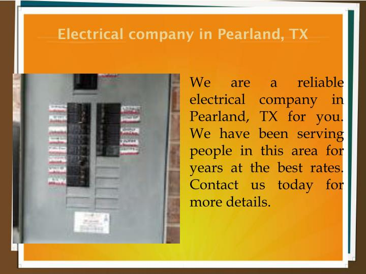Electrical company in Pearland, TX