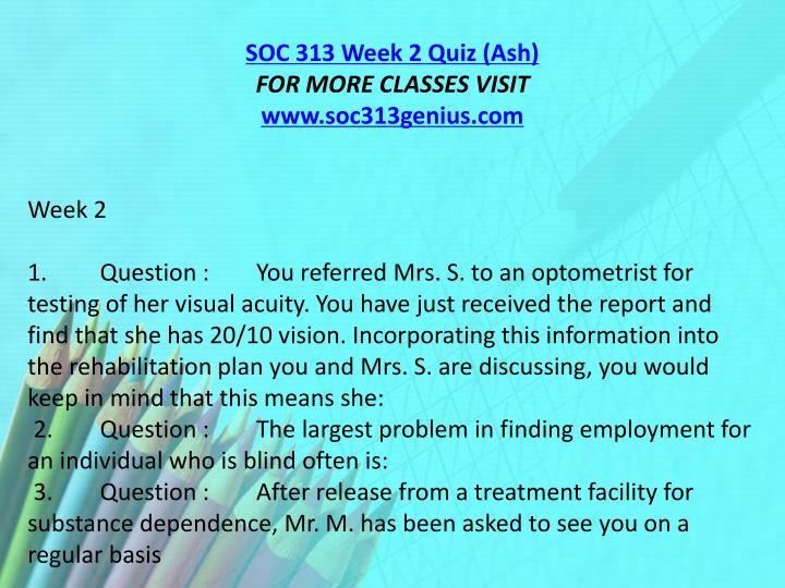 SOC 313 Week 2 Quiz (Ash)