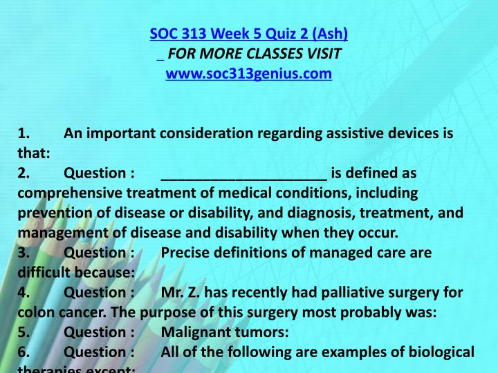 SOC 313 Week 5 Quiz 2 (Ash)