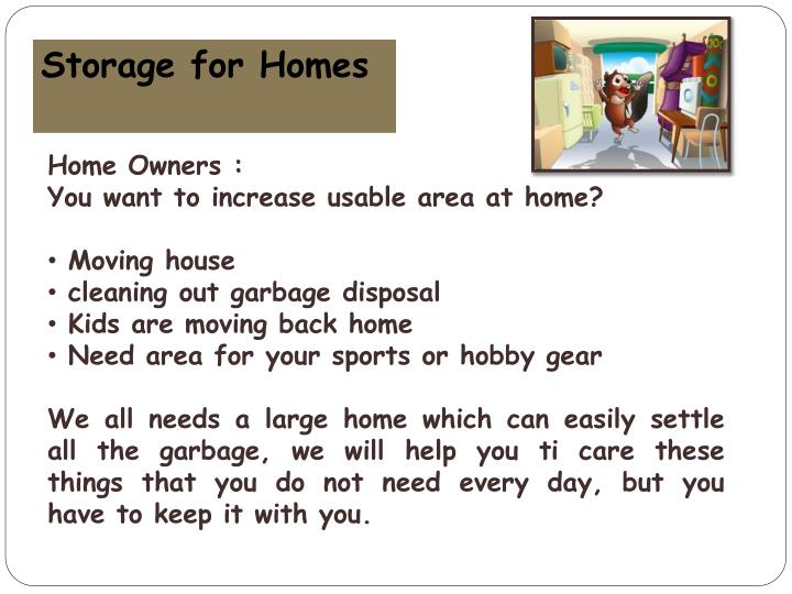 Storage for Homes