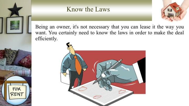 Know the Laws