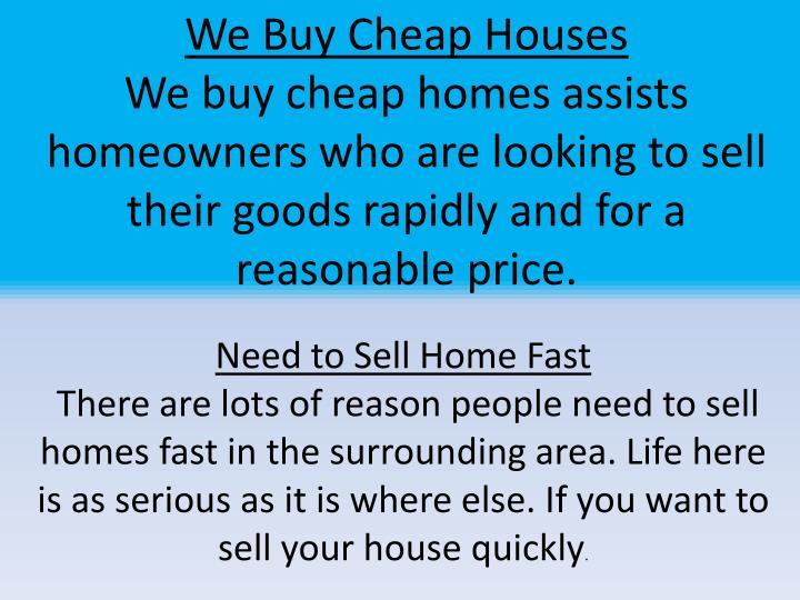 We Buy Cheap