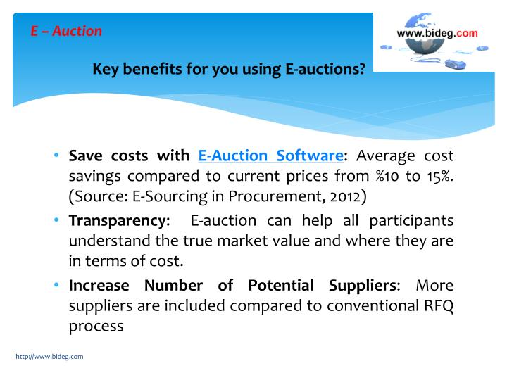 E auction key benefits for you using e auctions