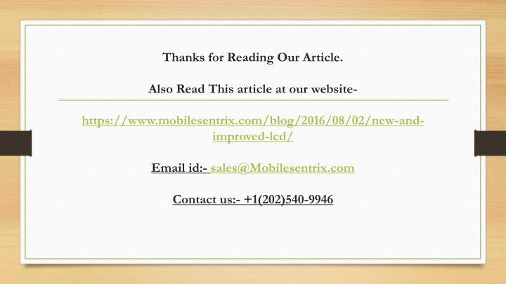 Thanks for Reading Our Article.