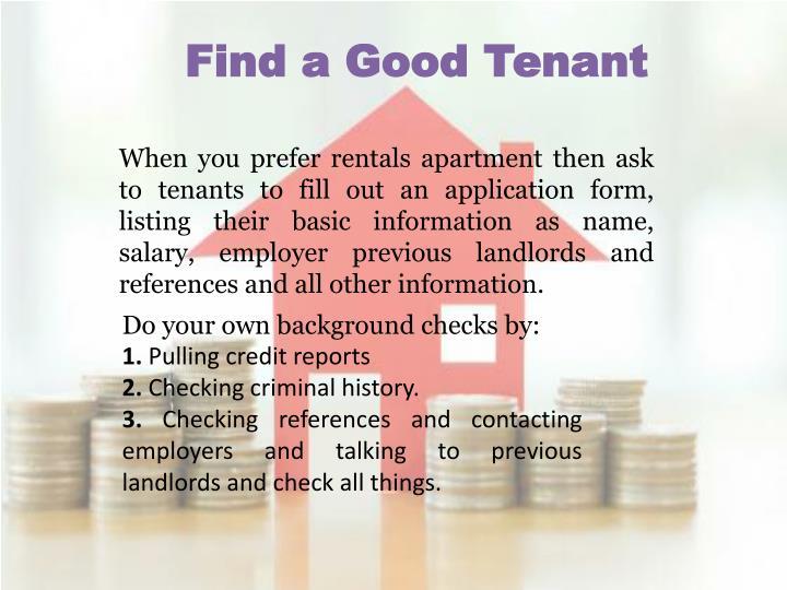 Find a Good Tenant