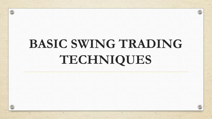 basic swing trading techniques