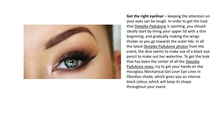 Get the right eyeliner