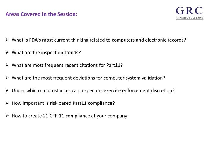 What is FDA's most current thinking related to computers and electronic records