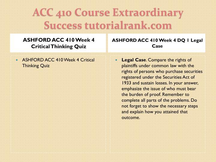 ASHFORD ACC 410 Week 4 Critical Thinking Quiz