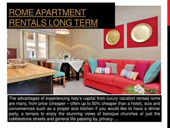 Rome apartment rentals long term