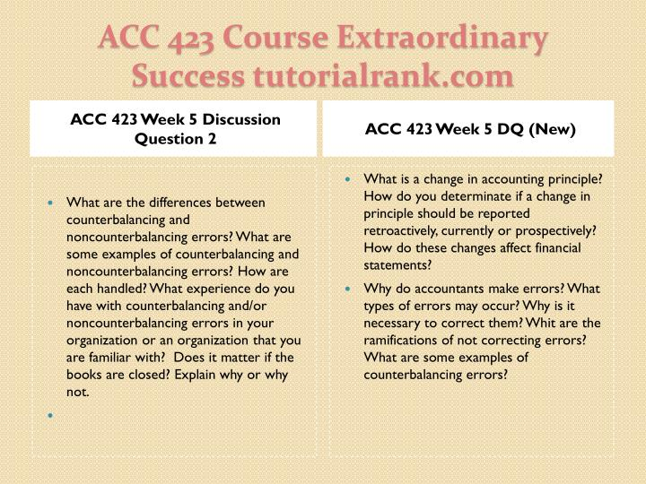 ACC 423 Week 5 Discussion Question 2