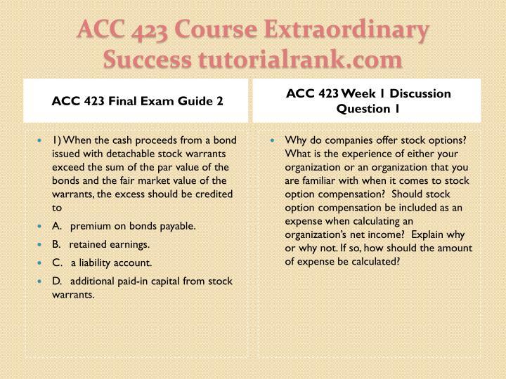 Acc 423 course extraordinary success tutorialrank com2
