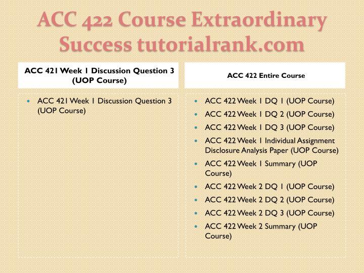 Acc 422 course extraordinary success tutorialrank com1