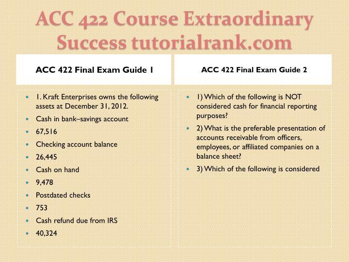 Acc 422 course extraordinary success tutorialrank com2
