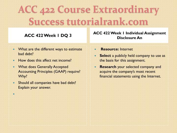 ACC 422 Week 1 DQ 3