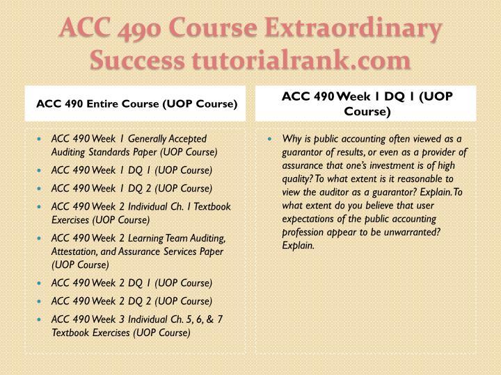 Acc 490 course extraordinary success tutorialrank com1