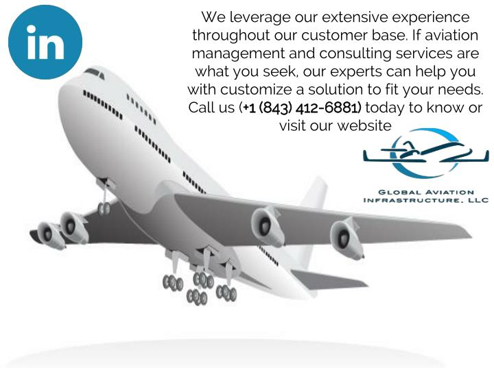 We leverage our extensive experience throughout our customer base. If aviation management and consulting services are what you seek, our experts can help you with customize a solution to fit your needs. Call us (