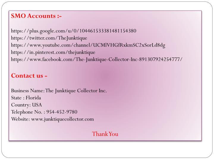 SMO Accounts :-