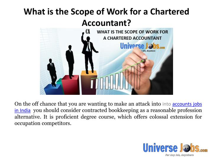 What is the scope of work for a chartered accountant