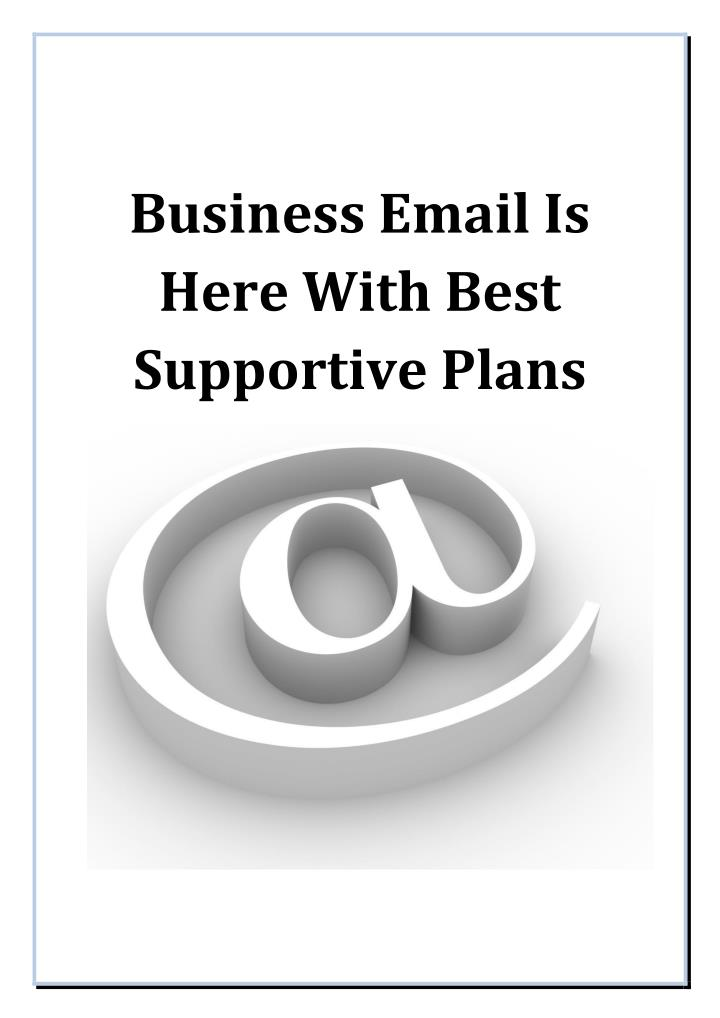 Business Email Is