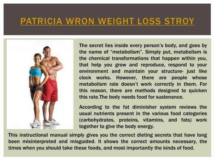 Patricia wron weight loss stroy