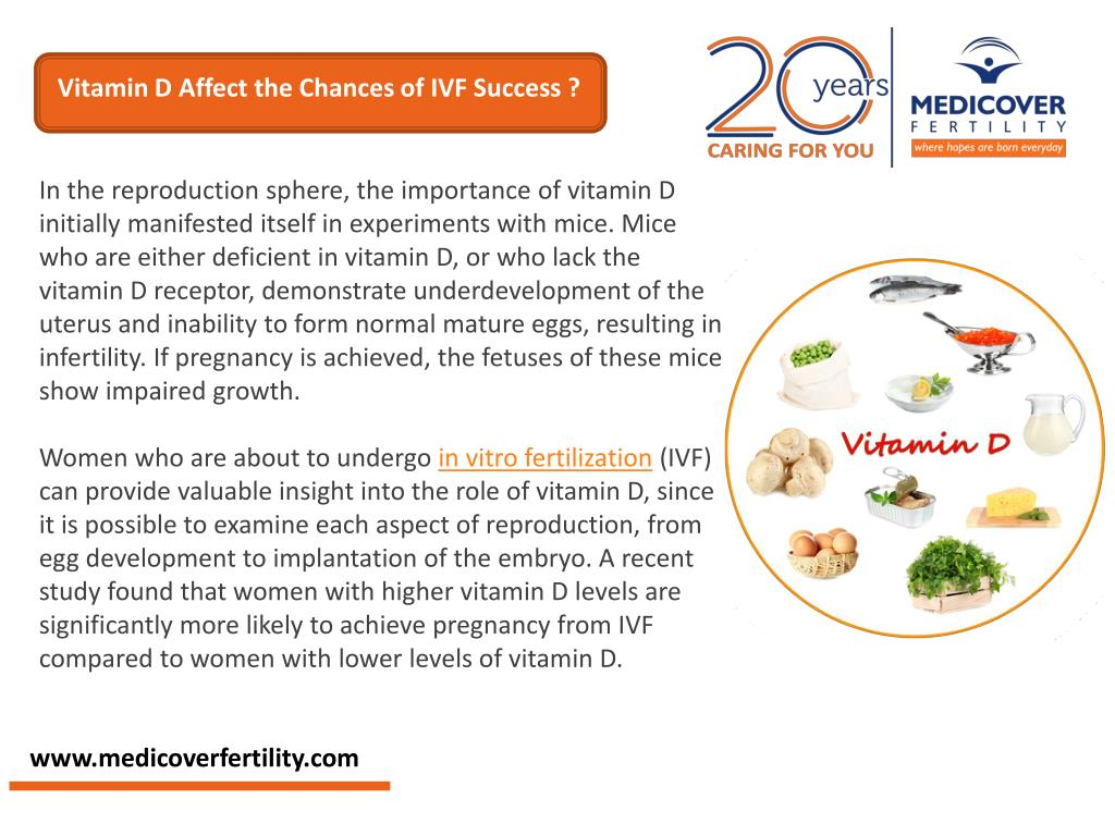 PPT - How does Vitamin D affect the chances of IVF success? PowerPoint  Presentation - ID:7446244